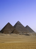 Pyramids in Desert Landscape  close up View