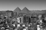 Cityscape of Cairo  Pyramids  Egypt