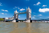 Tower Bridge in London in a Beautiful Summer Day