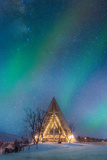 Northern Lights over the Arctic Cathedral