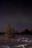 Snow Lit by Car Lights in Finland  Scandinavia