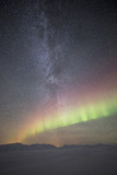 Aurora and the Milky Way  Iceland