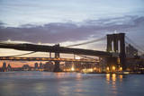 Usa  New York State  New York City  Brooklyn Bridge at Dawn