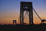 Silhouette of George Washington Bridge at Sunset