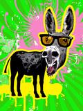 Donkey Wearing Sunglasses  Laughing