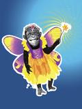 Chimpanzee in Fairy Costume