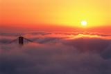 Usa  California  San Francisco  Golden Gate Bridge  Pylon in Fog