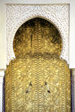 Golden Door and an Arch Way  Casablanca  Morocco