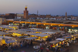 Elevated View over Djemaa El-Fna Square at Dusk