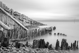 Sea Defences at Porlock Weir  Somerset  UK