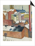 Marienkirche Im Schnee  1911