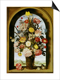 Vase with Flowers in a Window  about 1618