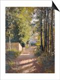 Allee sous-bois en Normandie  1882