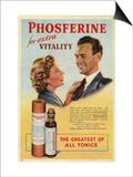 Phosferine  Magazine Advertisement  UK  1950