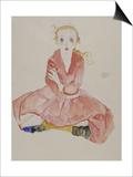 Sitzendes Maedchen  1911