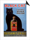 Cats Black Cat Enamel Stove Polish Products  USA  1920