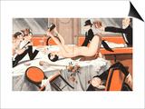 Le Sourire  Erotica Drunks Orgies Champagne Party Magazine  France  1920