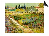 Flowering Garden with Path  Arles  1888