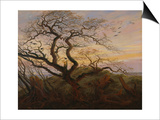 Ravens in a Tree (Bare Tree at the Coast of Ruegen  Or: Rookery on the Island Ruegen)  about 1822