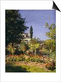 Garden in Bloom  c1866