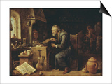 An Alchemist in his Workshop  early 1650s