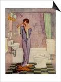 Woman in Bathroom  Magazine Advertisement   UK  1930