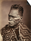 Portrait of a Maori with Tattoed Face