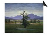 Der Einsame Baum (Dorflandschaft Bei Morgenbeleuchtung) (See also Image Number 1433  1823