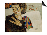 Self-Portrait with Spread Fingers  1911