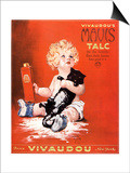 Mavis Talc Cats Talcum Powder  USA  1920
