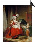 Queen Marie-Antoinette and Her Children  1787