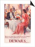 Dewar's  Whiskey Alcohol Dinners  UK  1930