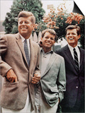 Brothers  John F Kennedy  Robert Kennedy  and Ted Kennedy  Right  in Hyannis Port  Massachusetts