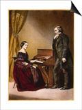 Robert and Clara Schumann  C1850