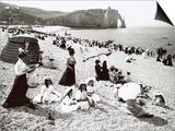 The Beach at Etretat  C1900