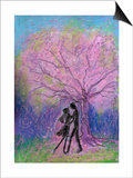 Lovers Dance under Full-Bloomed Cherry Blossoms