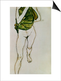 Striding Torso in Green Shirt  1913