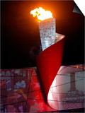 Beijing Olympics Opening Ceremony  Olympic Torch Burning  Beijing  China