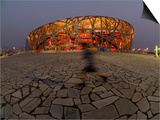 Boy Running Outside Bird's Nest  Beijing  China