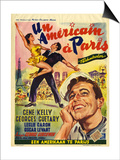 1950s France An American In Paris Film Poster