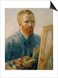 Self-portrait at the Easel  Beginning of 1888