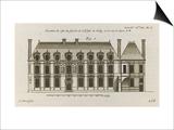 Planche 258 (1) :  élévation de la façade côté jardin de l'Hôtel de Sully construit par