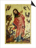 Altar Von StPetri Hamburg (Grabower Altar)  Um 1380 Erschaffung Der Tiere