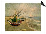 Fishing Boats on the Beach at Saintes-Marie-de-la-Mer  around June 5  1888