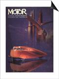 Visions of the Future  Cars Futuristic Magazine  USA  1930