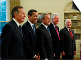 Side View of All Living Presidents and Newly Elected Barack Obama  January 7  2009