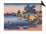 Clair de lune sur la rivière Sumida à Edo