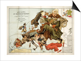 Satirical Map - A Serio-Comic Map of Europe