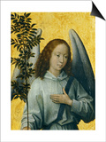 Angel Holding an Olive Branch  Symbol of Divine Peace