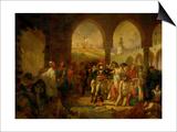 Bonaparte Visits the Plague-Ridden of Jaffa  Painted 1804